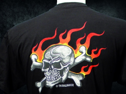 Troublemaker - Flammen Shirt TROUBLEMAKER Skull