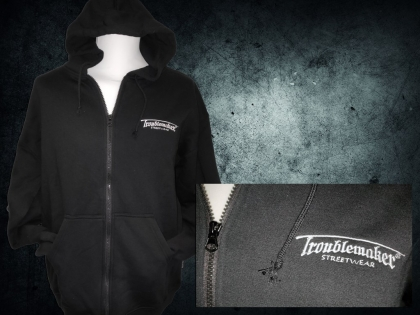 Hooded Jacket - Troublemaker Streetwear stick